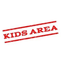 Kids area watermark stamp vector