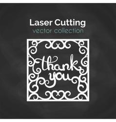 Laser cut card template for laser cutting cutout vector