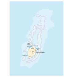 map providencia and santa catalina colombia vector image