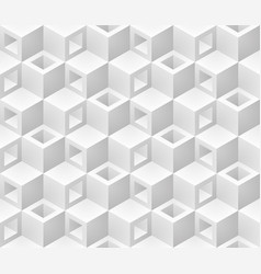 Neutral gray cubes isometric seamless pattern vector