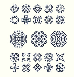 oriental design elements set easy to create vector image vector image