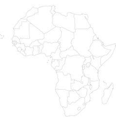 Outline Africa map vector image vector image
