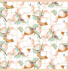 peach fruit seamless pastel light pattern vector image
