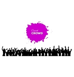 People concert crowd vector