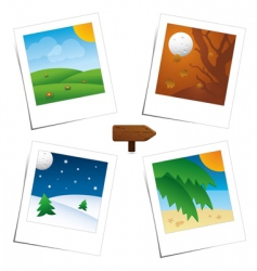 Polaroid seasons vector