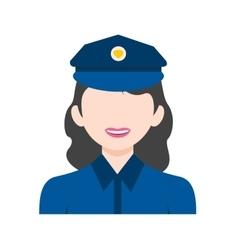 Police Woman vector image