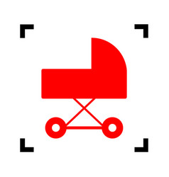 pram sign red icon inside vector image