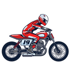 Racer ride the motorcycle vector
