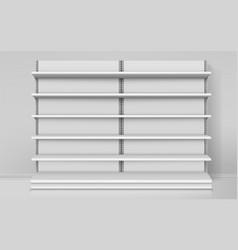 realistic empty shelves or shelf for shop vector image