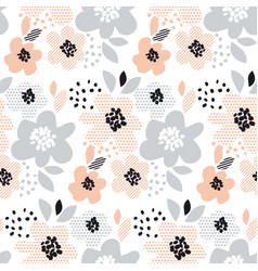 Romantic pale color floral seamless pattern vector