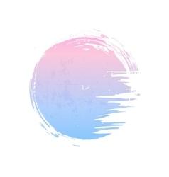 Rose quartz and serenity circle vector