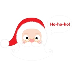 Santa Claus Head Isolated on White vector image