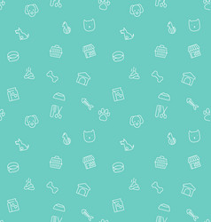 seamless pattern and background thin line icons vector image