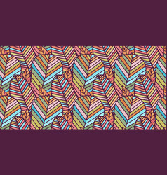 Seamless pattern made colorful feathers vector