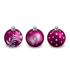 set christmas balls isolated on white vector image