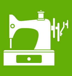 sewing machine icon green vector image