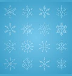 snowflake christmas line icon editable stroke vector image