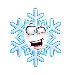 Snowflake head aha vector