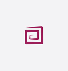 stylized square spiral logo icon vector image
