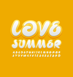 sunny poter love summer with handwritten ye vector image