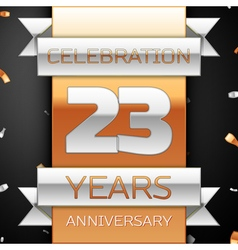 Twenty three years anniversary celebration golden vector