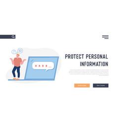 User forgot password website landing page vector