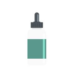 Vape liquid reserve icon flat style vector