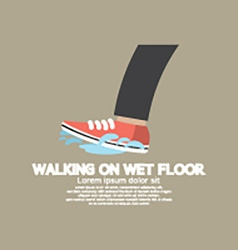 Walking On Wet Floor vector image