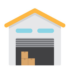 warehouse flat icon logistic and delivery vector image