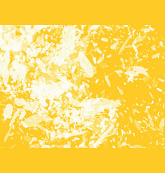 yellow abstract background with white blots vector image