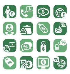 color money icons vector image vector image