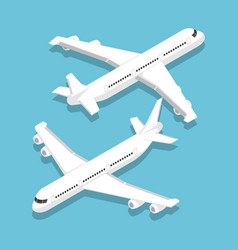 isometric large passenger airplane vector image
