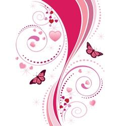 Pink swirl ornament vector image