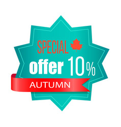special offer 10 autumn on vector image vector image
