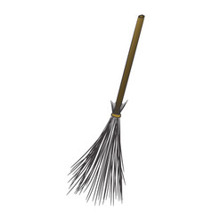a cartoon broom witch transport on vector image vector image