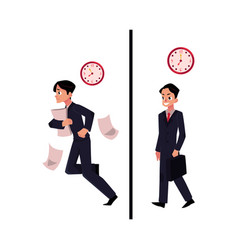 businessman manager in business suit hurrying vector image vector image