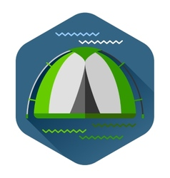 Graphical camping made in flat style vector image vector image