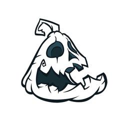 halloween pumpkin jack o lantern cartoon vector image vector image