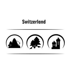 icons switzerland vector image
