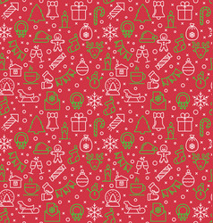 seamless pattern of christmas and new year vector image vector image