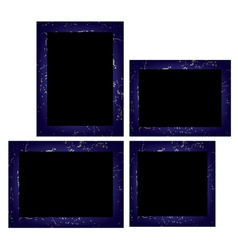 Set of photo frames Isolated on white background vector image vector image