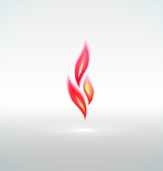 Shiny flame sign with reflection vector image vector image