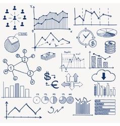 Business finance management infographics doodle vector image