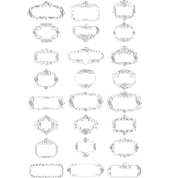 calligraphy elements vector image