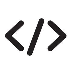 code icon vector image
