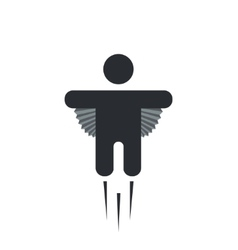 modern flying man icon on white vector image