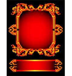 red frameworks vector image