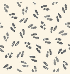 seamless background with human footprints vector image