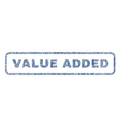 value added textile stamp vector image