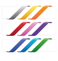 Banner ribbons in various colors vector image